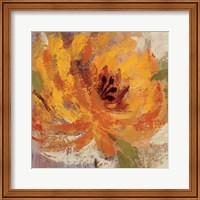 Framed Fiery Dahlias I Crop