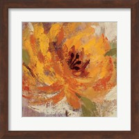 Framed Fiery Dahlias I Crop