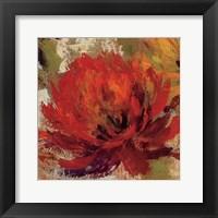 Framed Fiery Dahlias II Crop
