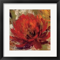 Framed Fiery Dahlias II Crop