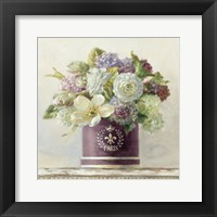Framed Tulips in Aubergine Hatbox