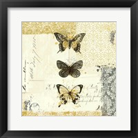 Framed Golden Bees n Butterflies No. 2