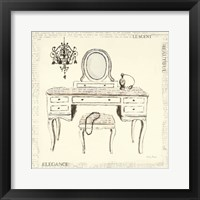 Emily's Boudoir III Table Framed Print