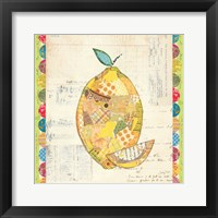 Framed Fruit Collage II - Lemon