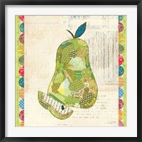 Framed Fruit Collage III - Pear -
