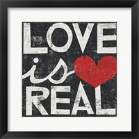 Framed Love Is Real Grunge Square
