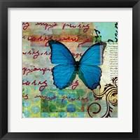 Framed Homespun Butterfly II