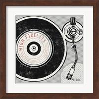 Framed Vintage Analog Record Player