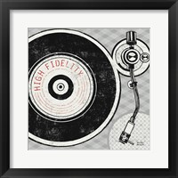 Framed Vintage Analog Record Player