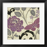 Framed Perfect Petals I Lavender