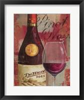 Vin Abstrait I Framed Print