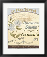 Framed French Seed Packet IV