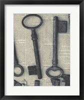 Parisian Keys I Framed Print