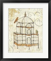Framed Bird Cage I