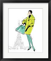 Colorful Fashion II - Paris Framed Print
