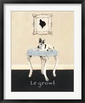 Framed Le Growl