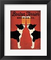 Framed Boston Terrier Brewing Co.