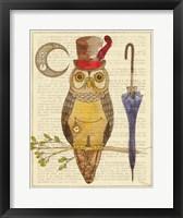 Framed Steampunk Owl I