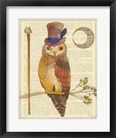 Framed Steampunk Owl II