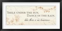 Framed Smile under the Sun