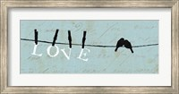 Framed Birds on a Wire - Love