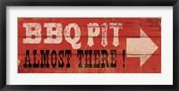 BBQ Pit Framed Print