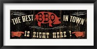 The Best BBQ in Town Framed Print