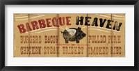 Barbeque Heaven Framed Print