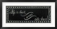 Cute Shoes Framed Print