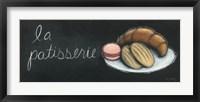 Chalkboard Menu II - Patisserie Framed Print