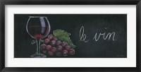 Chalkboard Menu IV - Vin Framed Print