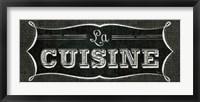 La Cuisine Chalk II Framed Print