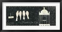 Love Paris Panel IV Framed Print