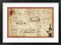 Framed Wine Map