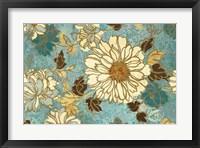 Framed Sophias Flowers Blue