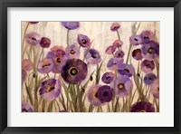 Framed Pink and Purple Flowers