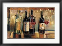 Framed Les Vins Maison