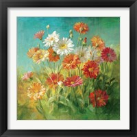 Framed Painted Daisies