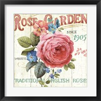Framed Rose Garden I