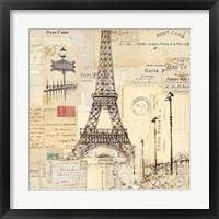 Framed Paris Collage II