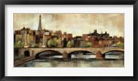 Paris Bridge I Spice Framed Print
