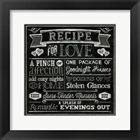 Framed Thoughtful Recipes III
