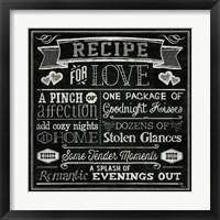 Framed Thoughtful Recipes III