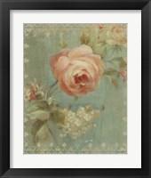 Framed Rose on Sage