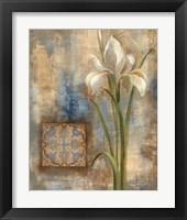 Framed Iris and Tile