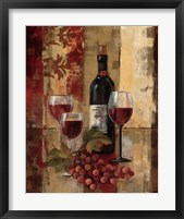 Framed Graffiti and Wine II