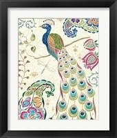Framed Peacock Fantasy III