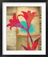 Framed Floral Notes II