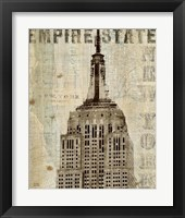 Framed Vintage NY Empire State Building