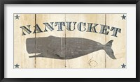 Framed Nantucket Whale